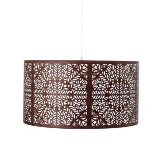 Šio pakabinamo šviestuvo dizainą įkvėpė metalinės medžių grotelės