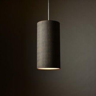 Pakabinamas šviestuvas grafito spalvos banguotos medienos tekstūros