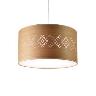 Medinis šviestuvas su baltiškais ornamentais